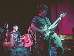 Lever @ Burlington Bar (Kiwithing) Tags: blue music usa chicago color rock musicians bar burlington concert lowlight punk purple livemusic highcontrast il venue stagelight theburlington olympusomdem5 replichrome burlingtonbar imnorotter