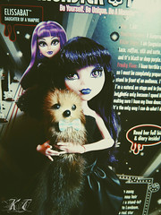 Elissabat and her pet - Norbert (Barty) (KTKate_and_Tanya) Tags: camera monster high doll dolls action mh mattel kt frights elissabat monsterhighelissabat