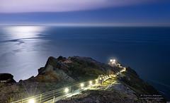Moonlight Sonata - Point Reyes Lighthouse (andispin1962) Tags: ocean california longexposure moon lighthouse west night coast pacific stairway moonlight currents moonglow nationalseashore darvin pointreyeslighthouse atkeson darv liquidmoonlightcom