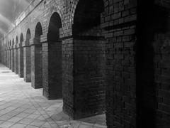 Pillars (mattgilmartin) Tags: bw architecture birmingham arch pillars newstreetstation stonearchway brickpillars