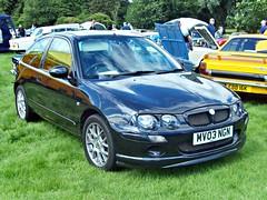 168 MG ZR X Power (2003) (robertknight16) Tags: rover mg british bmc shugborough zr 2000s bl kseries mv03ngn