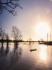 06/12/15 (Sasquatchpics) Tags: sun water river flood nireland colondonderry canons95 canonpowershots95 365in2015