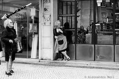 Lisbon (ale neri) Tags: street blackandwhite bw reflection portugal umbrella mirror lisboa lisbon streetphotography aleneri alessandroneri