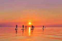 Standup paddle (jas22dav) Tags: light sunset sea summer vacation people sun seascape nature sunshine landscape photography boat photo amazing nikon outdoor paddle sunny slovenia land surfers geo natgeo sillhoute