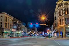 Star of Wonder (tquist24) Tags: christmas longexposure night geotagged lights nikon downtown unitedstates indiana elkhart hdr starburst nikond5300