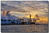 Hillsboro Inlet Light at Sunrise (Fraggle Red) Tags: morning lighthouse clouds sunrise dawn florida windy inlet hdr waterway pompanobeach hillsboroinlet canonef24105mmf4lisusm 7exp hillsboroinletlight browardco dphdr hillsboroinletpark canoneos5dmarkiii 5d3 5diii