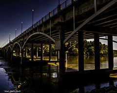 Dusk Falling On the Broad River Bridge (that_damn_duck) Tags: bridge sunset unitedstates sundown dusk southcarolina bridges columbiasc