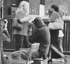 Chill Out (KenBelMore) Tags: blackandwhite black no sydney streetphotography australia nsw baldmen baldness pittstreet pittstreetmall kenswanson sydneynew kenbelmore