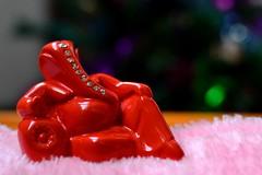 The boss :) (__sam) Tags: pink red closeup god stones ganapati
