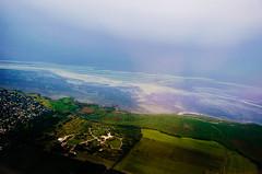 Leaving Denmark (Melissa Maples) Tags: copenhagen denmark europe nikon d5100   nikkor afs 18200mm f3556g 18200mmf3556g vr aerial countryside fields pionergrden coast shore shoreline baltic sea water green blue