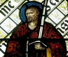[45611] St Editha, Tamworth : St Paul (Budby) Tags: tamworth staffordshire church window stainedglass preraphaelite