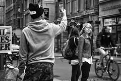 me, myself and my selfie (o_teuerle) Tags: man women mann frauen frau strase street selfie photographer bw sw monochrom monochrome blackwhite nikon streetportrait leipzig saxony sachsen candid