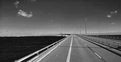 Malm October 2016 273b (paul_appleyard) Tags: malm resund resund oresund bridge denmark sweden copenhagen black white blackandwhite lumia 950 crossing sky sea clouds