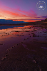 Death Valley Reflections (www.35mmNegative.com(On a Break, Catchin) Tags: www35mmnegativecom reetom hazarika photography nikon d800e california landscape reflections death valley national park nps parks services salt beds sunset sunrise colorful trails light