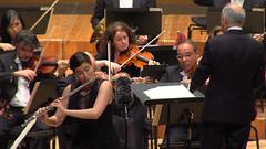 Irene Parada tocando en el Auditorio de Galicia