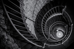 Lighthouse Stairs (jgottlieb) Tags: grays harbor lighthouse westport wa washington leica mp typ 240 spiral staircase black white