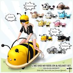 NYU - I, Me & My Ride-On & Helmet Set (Epiphany) (NyuNyu Kimono, NYU!) Tags: secondlife second life nyu ride helmet gacha epiphany cute kawaii