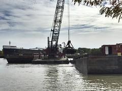 Dredging (prodefenserm) Tags: water boat ohio erie lake dredging huron
