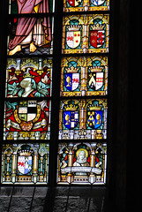 Belgian aristocratic coats of arms in stained glass (quinet) Tags: 2014 belgium bruges glasmalerei wappen blason coatofarms stainedglass vitrail antwerp flanders
