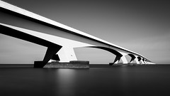 Zeelandbrug (miguel_lorente) Tags: blacknwhite longexposure zeelandbrug nd netherlands bridge water blackandwhite bnw architecture bw filter filters holland structure zeeland