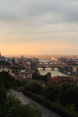 Panoramica al tramonto. (Federica Zampaolo) Tags: firenze florence vista piazzale michelangelo