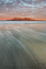 Rum from Eigg (cARTerART) Tags: rum isle eigg scotland laig beach uk sunrise island