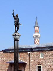 Plovdiv, Bulgaria - Dzhumaya Mosque (johnnysenough) Tags: 62 plovdiv пловдив dzhumayamosque джумаяджамия dzhumayasquare bulgaria bălgarija bulgarie bulgarien centraleurope travel vacation 100citiesx1trip snv38374