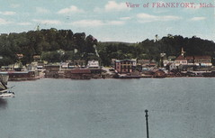 RR FRANKFORT MI c.1908 AARR Elberta Railroad Yard & Ferry Docks Early Harbor View Masted Schooners & Lumber Scow Docks Commercial Fishing Shantys Stacks of Lumber & Wood Fuel for Steamer Excursion Ferrys2 (UpNorth Memories - Donald (Don) Harrison) Tags: christmas santa jesus vintage antique postcard rppc don harrison upnorth memories upnorth memories upnorthmemories michigan history heritage travel tourism michigan roadside restaurants cafes motels hotels tourist stops travel trailer parks campgrounds cottages cabins roadside entertainment natural wonders attractions usa puremichigan  railroad ferry car excursion