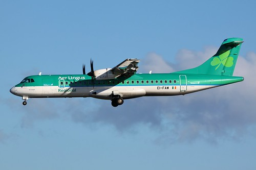 EI-FAW ATR72 @ Dublin Airport 6th November 2016