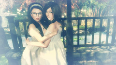 Now and Then (Marion Falworth) Tags: secondlife virtual online game avatar 3d sisters 7deadlyskins aviglam oleander catwa maitreya slink ison