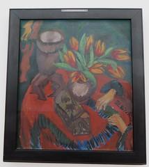 """""""Stilleben mit Tulpen, Exoten und Hnden"""", 1912, Ernst-Ludwig Kirchner (1880-1938), Muse Ludwig (1986), Cologne, Rhnanie du Nord-Westphalie, Allemagne. (byb64) Tags: museludwig peterludwig museumludwig cologne kln colonia rhnaniedunordwestphalie nordrheinwestfalen northrhinewestphalia renaniadelnortewestfalia renaniasettentrionalevestfalia rhnanie rhineland rheinland renania ville allemagne deutschland germany germania alemania europe europa eu ue rfa nrw stadt ciudad town citta city muse museum museo artmoderne xxe 20th artcontemporain expressionisme expressionismus derblauereiter diebrcke entartetekunst kirchner ernstludwigkirchner stilleben stilllife naturemorte"""