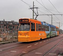 Delft, BN GTL8 Tram, P&O Advertising (Nik Morris (van Leiden)) Tags: southholland delft netherlands nederland tram bn htm