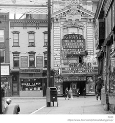 1936 grand theater (albany group archive) Tags: albany ny 1936 grand theater clinton avenue 1930s old history historic vintage photos photograph historical