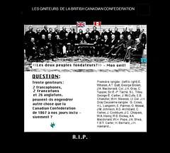 Les géniteurs de la Briitish  Canadian Confederation