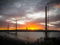 Queensferry Crossing Sunset (jason-l) Tags: scotland queensferry queensferrycrossing bridge sunset sky forth firthofforth