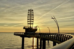Early Risers (gerry303) Tags: outdoor burlington ontario lake pier sunrise water