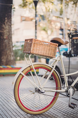 A lovely bike I found (ninasclicks) Tags: bicycle bike bokeh dof street wheel