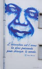 Citation de Mandela (Zphyrios) Tags: nikon d7000 alsace strasbourg mandela peinture visage education