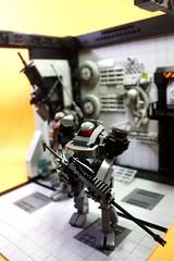 Hardsuit Testshot (icycruel) Tags: lego moc hardsuit battle armor black ice team six outpost charlie sci fi military