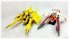 Aurora and Perun VV (Brick Martil) Tags: lego toy vv vicviper spaceship space spacecraft starfighter