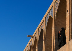 Two young veiled women on khaju bridge pol-e khaju, Isfahan province, Isfahan, Iran (Eric Lafforgue) Tags: 20s 2people adultsonly ancient architectural architecture blue bridge chador city clearsky colorimage copyspace cultural day esfahan hispahan horizontal iran iranian isfahan ispahan khajubridge middleeast muslim orient outdoors persia photography sepahan shahabbas sunny tourism touristic traveldestinations twopeople unescoworldheritagesite urban veil veiled women womenonly zayandeh isfahanprovince