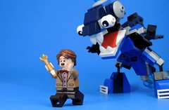 The Doctor Never Stops Running (MrKjito) Tags: lego minifig doctor who ideas 11th matt smith sonic screwdriver mixel monster moc running