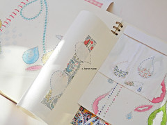 extending pages, design, ledger, (contemporary embroidery) Tags: design sketchbook ledger pages