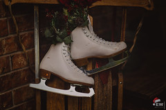 Holiday Wishes (Edward Wilson Photography) Tags: winter holly skates sled white christmas snow old vintage fun