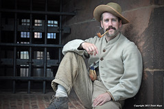 Confederate Prisoner of War (Trish Mayo) Tags: portrait civilwar governorsisland livinghistory castlewilliams noncoloursincolour reeanactor thebestofday gnneniyisi confederateprisoner
