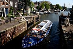 Amsterdam  (Mel@photo break) Tags: city trip cruise holland water amsterdam boat canal tour capital tourist mel netherland melinda   chanmelmel melindachan