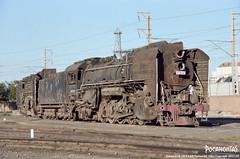 2011/10/3 QJ6825 Linhe (Pocahontas®) Tags: railroad film train canon kodak engine rail railway loco steam locomotive eos1n portra160 135film qj6825