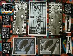 Pack from RKade 01 - 10/26/2015 (Mr. MumbleJinx) Tags: streetart art stickerart stickers stickertrade rkade stickerporn strickercombo