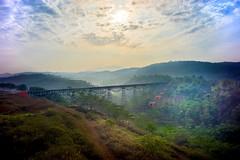 On The Bridge (petersaputra) Tags: bridge train indonesia landscape bandung pemandangan padalarang