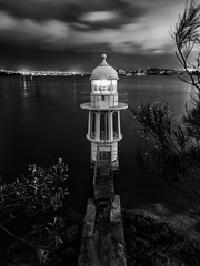 Robertson Point Light (StephEvaPhoto) Tags: new blackandwhite white black monochrome wales canon photography eos is blackwhite south north sydney australia full frame nsw newsouthwales l usm fullframe canoneos ef northsydney blackandwhitephotography f40 6d monochromephotography 24105mm canonef24105mmf40lisusm canoneos6d robertsonpointlight